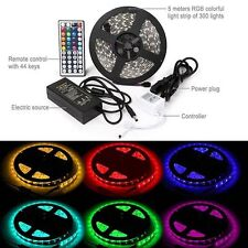 5M SMD RGB 5050 Waterproof LED Strip light 300 & 44Key Remote & 12V Supply Power