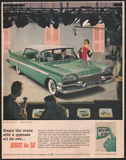 1958 Canadian Dodge print ad Frosted Turquoise Mayfair 4-dr Hardtop