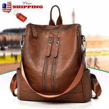 Vintage Girl Women School Leather Backpack Travel Handbag Shoulder Rucksack Bag