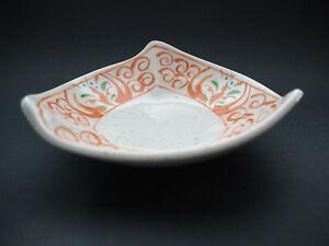 Japanese Ceramic, Arita Yaki, Small Plate, Triangle Shape