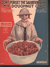 Don't Forget the Salvation Army (My Doughnut Girl) 1919 Sheet Music