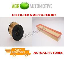 PETROL SERVICE KIT OIL AIR FILTER FOR PEUGEOT 206 CC 1.6 109 BHP 2004-07