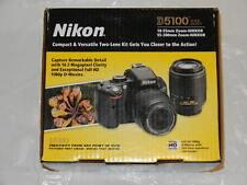 Box for Nikon D5100 2-Lens Bundle DSLR Camera