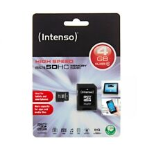 Intenso * Kapazität 4 GB * micro SDHC Speicherkarte + Adapter * Class 10 *