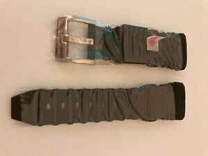 Genuine TechnoMarinE BLACK Strap Band 40MM Watch Silicone SS buckle NEW