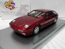 KESS 43024010 # Porsche 928 4 door Sedan Baujahr 1986 dunkelrot-metallic 1:43