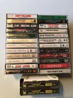 Christmas Cassette Tape Lot 26 Tapes Vintage