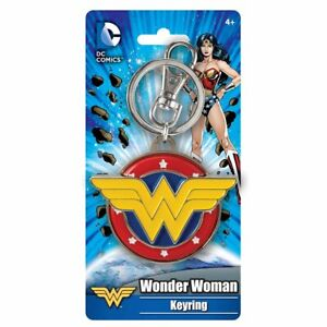 Wonder Woman Colored Field Logo Keychain NEW IN STOCK