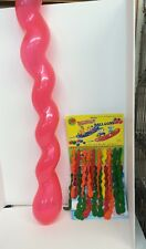 20 Jumbo Size Squiggly Rocket Flying Balloons 4' Long  Party Balloon Wholesale