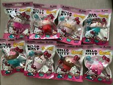 HELLO KITTY SANRIO SQUISHME CUPCAKES SET OF 8 STRESS BALL SQUISHY TOYS NEW N BAG