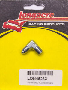 """LONGACRE PN 45233 90° Adapter Fitting - Steel - 1/8"""" NPT Male to 3AN Male"""
