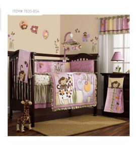 Cocalo JACANA JUNGLE 8pc Crib Bedding Set bumper Quilt Sheet Nursery Girls