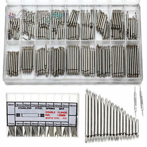 360PCS Watchmaker Watch Band Spring Bars Link Pins Steel Repair Kit Tool A2TD