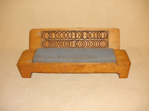 Antique Honing or Sharpening Stone w/ Custom Wood Box