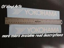 2x Yokohama tires Decals Windshield Banners Car Stickers Graphics jdm