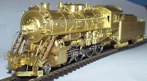 PACIFIC FAST MAIL HO SCALE WESTERN MARYLAND '800' 2-8-0 BRASS LOCOMOTIVE
