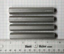 "STANDOFFS 4 @ 1/2"" X 3-1/2"" Hex Tapped 1/4-20 New Aluminum OR Customized to spec"