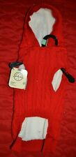New listing Dog Red Cable Hooded Sweater Sherpa Fleece Lined - Large - Bond & Co