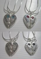 2 colliers, pendentif coeur a séparer Best friends, 4 couleurs dispo.