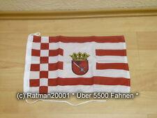 Fahnen Flagge Bremen Bootsfahne Tischwimpel - 30 x 45 cm