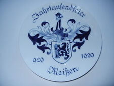 Meissen Wall Plate Jahrtausendfeier 929 - 1929 - 1st Choice Rare X