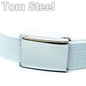 Belt, with Bottle Opener, Bottle-Opener-Belt, Fabric Belt, White, New
