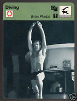 BRIAN PHELPS British Diving Olympics Photo 1978 UK SPORTSCASTER CARD 21-13