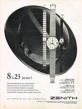 PUBLICITE ADVERTISING  1960   ZENITH   montre