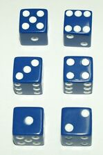 "6-Blue-Dice~Great for All Kinds of Games~5/8"" (14mm)~Buy-2-Deals-Get-3rd-FREE"