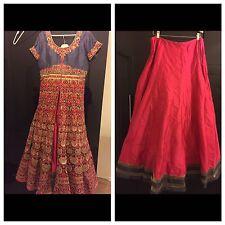 Vestido largo Kameez Asiático Lengha Boda