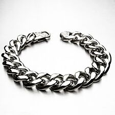 Heavy Stainless Steel Bracelet Men Chain Massive cuban biker chain Curb 316L UK1