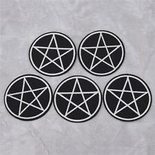 5pcs Gothic Pentagram Star Patches Badges DIY Clothing Hat Applique Sewing Craft