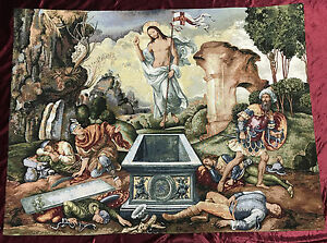 Wandteppich Gobelin Jesus Auferstehung resurrezione Arazzo Tapisserie 136x102 cm