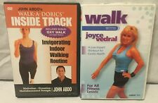 2 walking exercise fitness workout DVD lot, walkadobics walk with Joyce Vedral