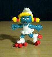 Smurfs Rollerskates Smurfette Smurf 20126 W BERRIE Vintage Figure Toy Figurine