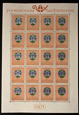 Sello LIECHTENSTEIN Stamp Yvert y Tellier nº492 x20 De Hecho De La Hoja N Y5