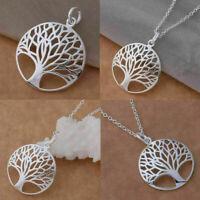 Charm Hollow Tree Jewelry Crystal Choker Bib Chunky Necklace Chain GoldP Hi Z9F9