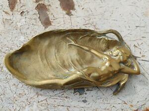 Vide poche en bronze d'époque Art nouveau - Fin 19 ème début 20 ème