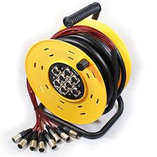 25m 8 salidas XLR macho a hembra multiconductor tambor Cable - Audio Telar Stage