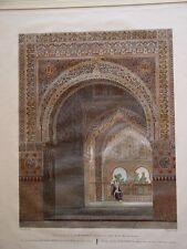 España. Granada. «Vista interior de la Alhambra» Alexandre Laborde.