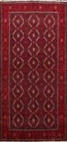 Geometric Balouch Afghan Oriental Area Rug Hand-knotted Wool Tribal Carpet 4'x6'