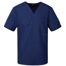 {XL} Dickies Xtreme Stretch Men's Embossed Scrub Top NAVY