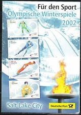 Germany 2002 EB FDC Mi 2237-2240 Sc B898-B901 Winter Olympic Sports