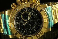 Invicta Sea Hunter Gen II 70mm 18k Gold Plated Chrono Swiss Black Watch
