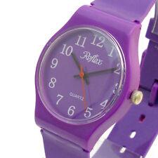 Polished Plastic Case Unisex Round Wristwatches
