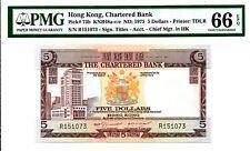 PMG 66 EPQ GEM UNC - 1975(ND) HONG KONG CHARTERED BANK $5 BANKNOTE