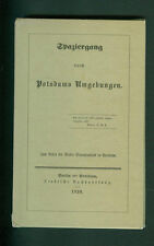 Spaziergang durch Potsdams Umgebungen  Faksimile 1839 Potsdam