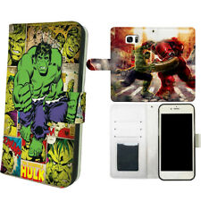 Hulk VS Ironman Flip Wallet Phone Cover fit for iPhone & Samsung & LG Stylo 5