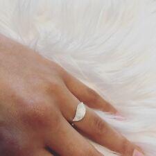Damen Ring echt Sterling Silber 925 Blatt Stylisch größenverstellbar Silberring