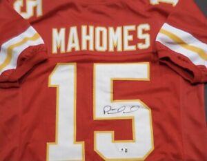 🔥PATRICK MAHOMES Signed Kansas City Chiefs Custom Jersey w/COA Nice Jersey🔥